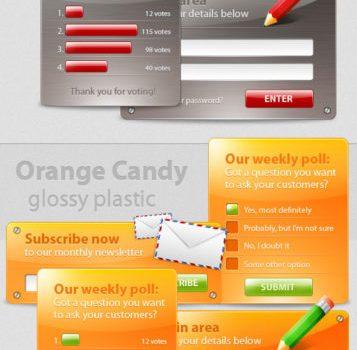 Multi color simple form PSD