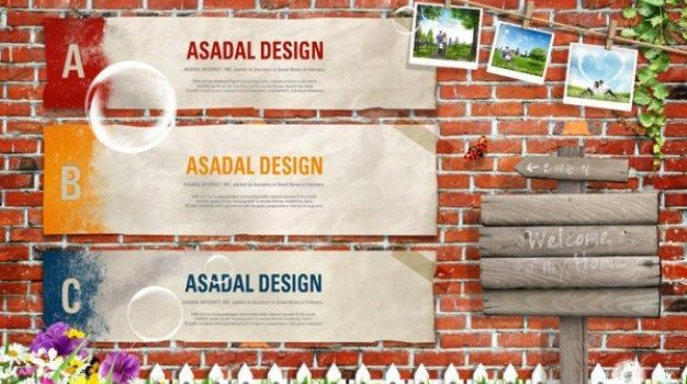 nostalgic brick wall background signs psd material