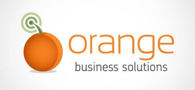 orange business logo design