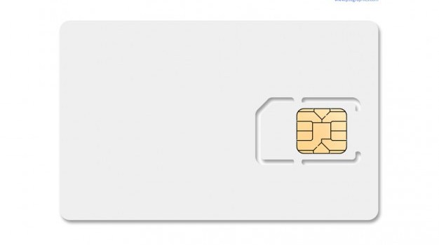 Phone card template with chips