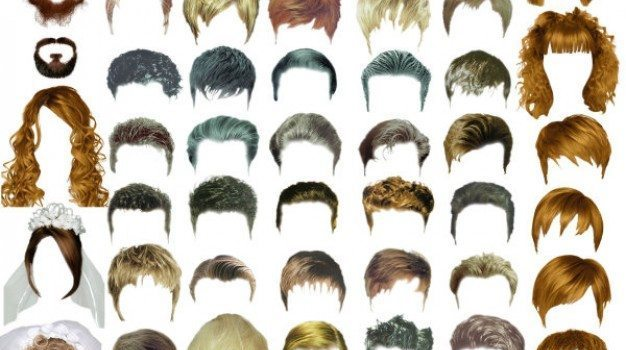 ps hair template