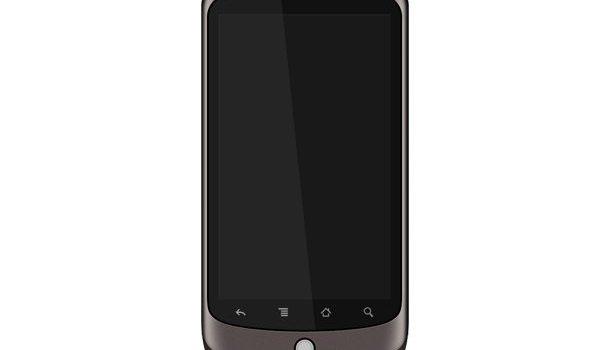 Photoshop recreation of Google Nexus One smartphone, download PSD