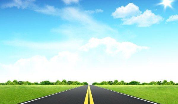 PSD, grass, sky, road material