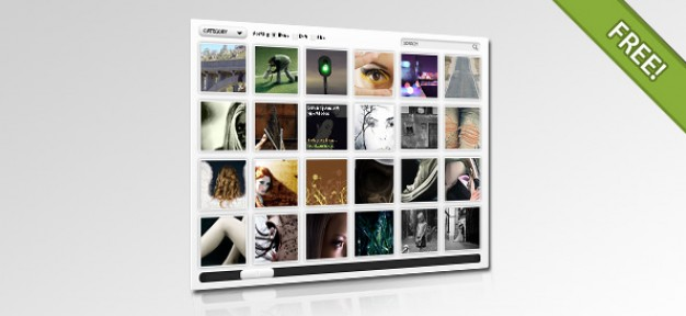 PSD Layout for Flash / JavaScript Gallery