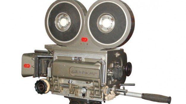psd material of old fashioned movie camera