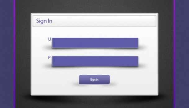 purple minimalist login form