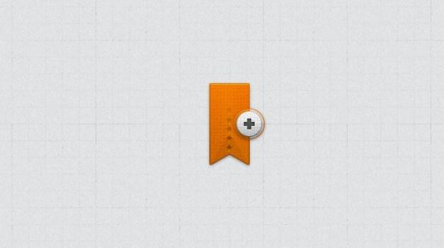 Ribbon Bookmark Icon