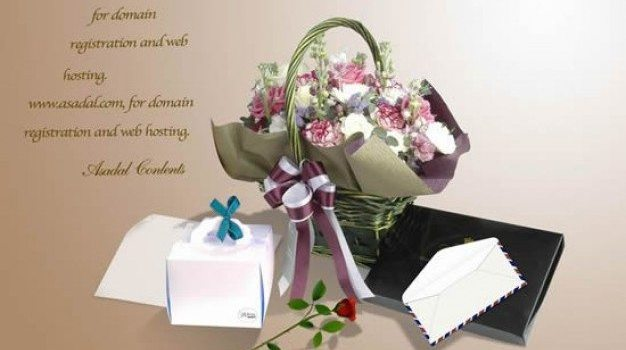 romantic and elegant flowers  gifts templates layered material