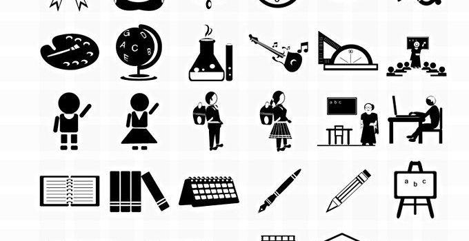 31 Free Vector Photoshop School Icons