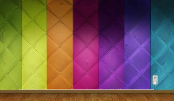 Seven color diamond shaped background wallpaper