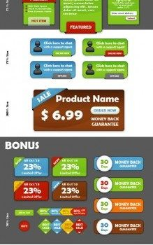 shopping site decoration psd layered material