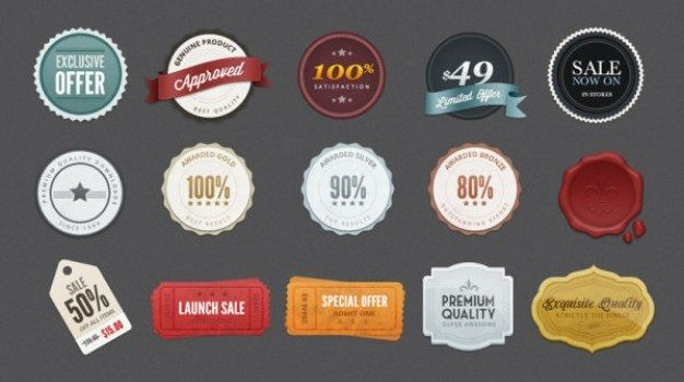 sophisticated label psd layered material