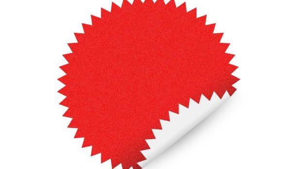 Star shape sticker