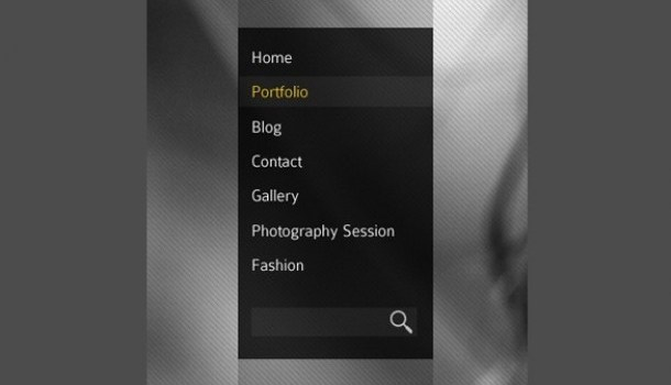 stunning vertical photography menu psd