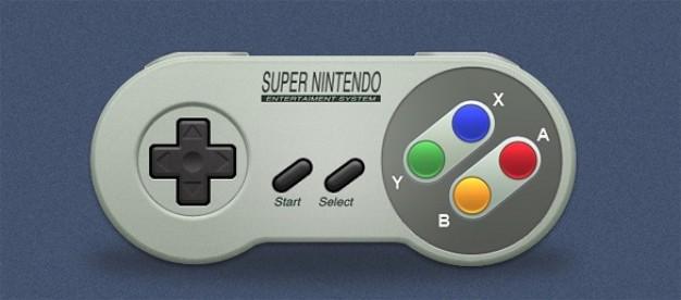 super nintendo game controller psd