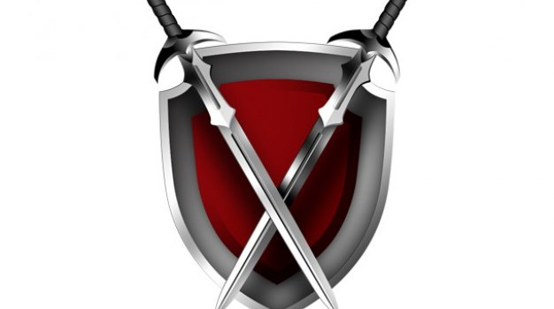 Swords and shield icon