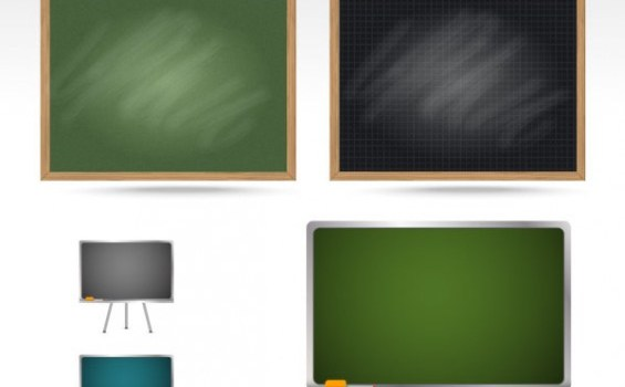 teaching equipment blackboard psd layered material