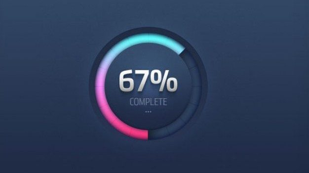 the circular progress circle psd layered material