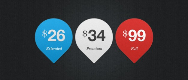 Three price tags PSD material