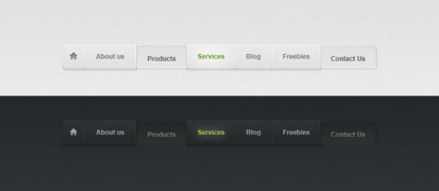 web design stylish three dimensional navigation psd layered material