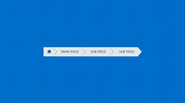 Web navigation breadcrumbs PSD template