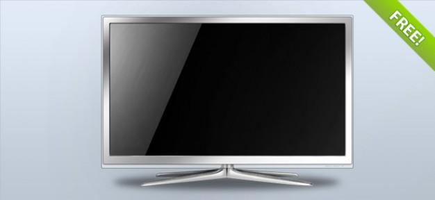 White LCD TV – Layered PSD