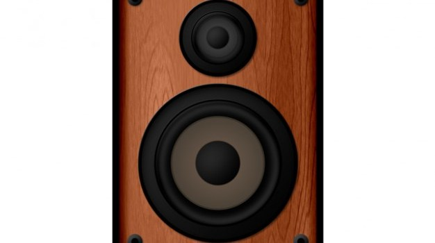 Wooden speaker icon (PSD)