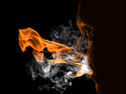 flam7b Create a Fiery Face Explosion
