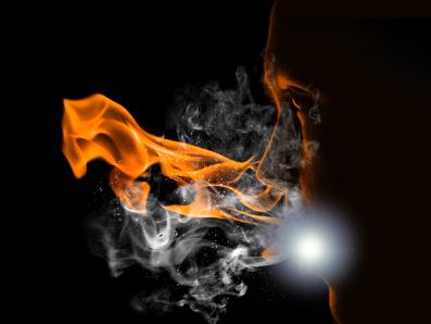 flam8d Create a Fiery Face Explosion