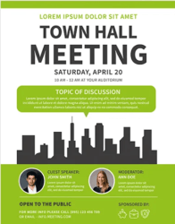 Free Meeting Flyer Template in PSD PSDFlyer