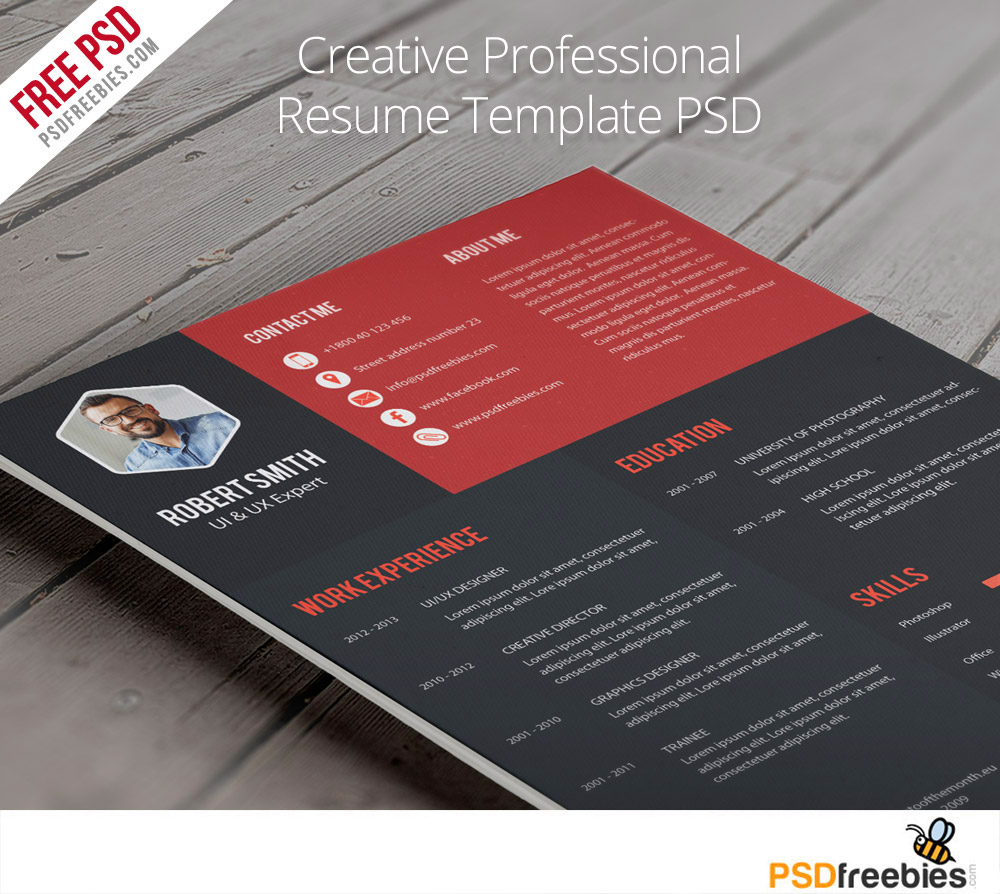 Resume Download Template Free Creative Professional Resume Template Free Psd Psdfreebies