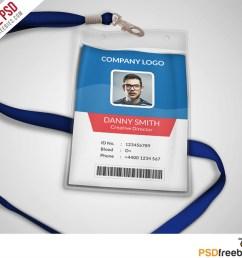 multipurpose company id card free psd template [ 1000 x 894 Pixel ]
