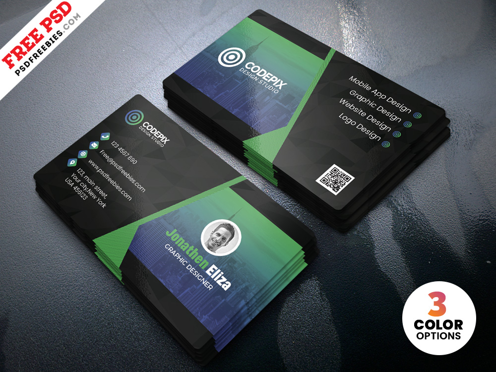 PSD Professional Business Card Design Template  PSDFreebiescom
