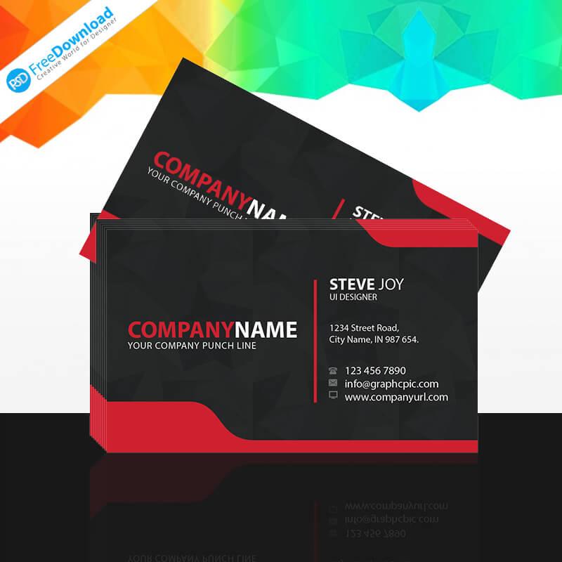 UI Designer Business Card PSD