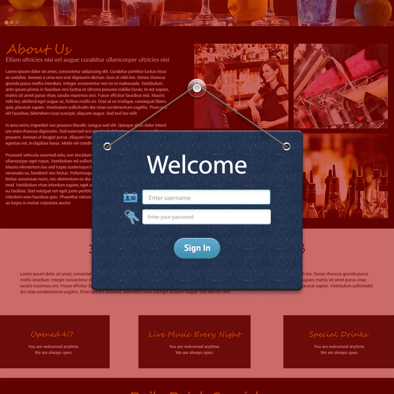 Welcome Popup Form