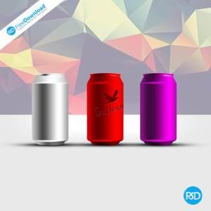 PSD Can Design Mockup Sample