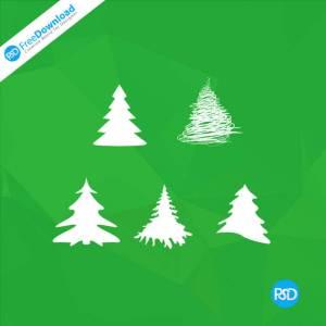 PSD 5 Christmas Tree Icons