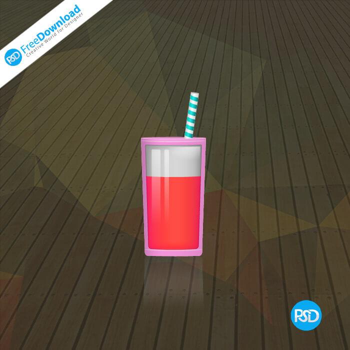 PSD Drink With Straw
