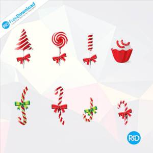 PSD Christmas Candy Icons