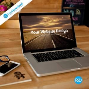 Free Laptop Mockup PSD Design
