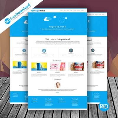 Website Design Template Free Mockup