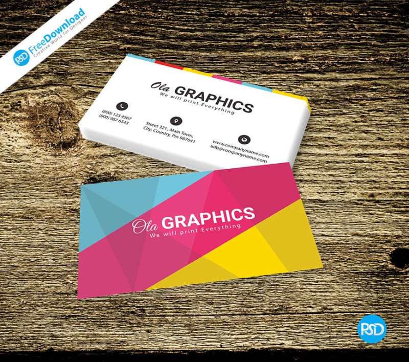 Colored Business Card Free PSD - PSD Free Download