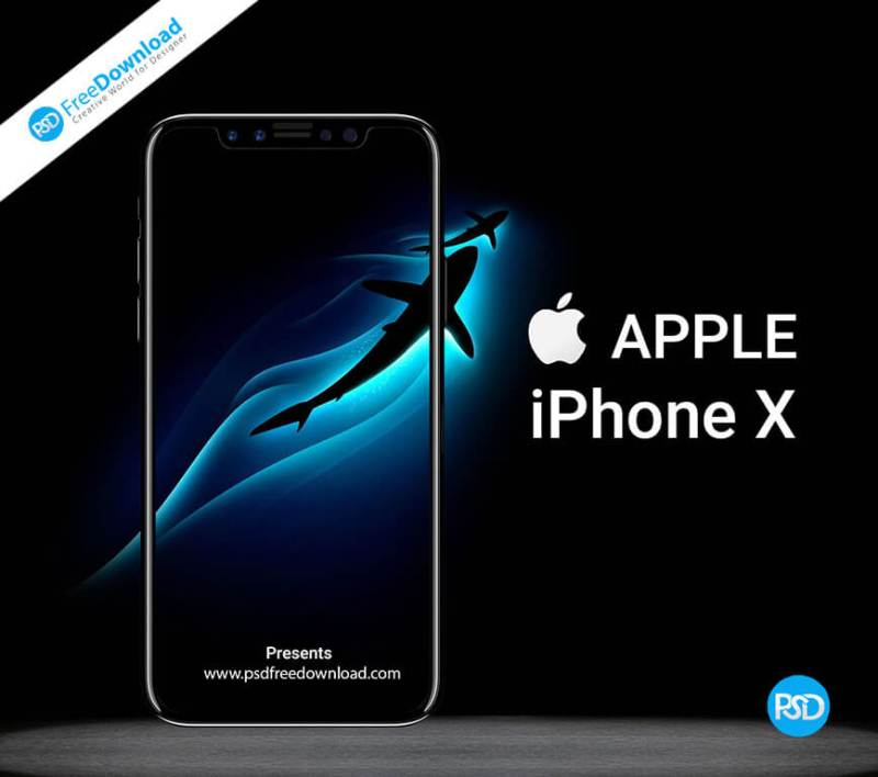 iphone X Mockup Free Psd, apple, download, free, freebie, free psd, iphone, iphone 10, iphone x, iphone x mockup, mockup, psd, phone, mobile, black,