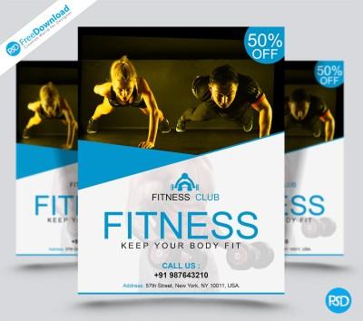 Free Printable Gym Flyer | | PSD Free Download