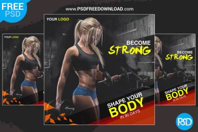 Fitness Banner Design PSD, GYM Ad Banner Design PSD, Fitness banner design, gym banner design, Health Banner design, Create Gym Posters , Gym Poster Templates, Gym banner, Gym post, Gym ad, gym creative
