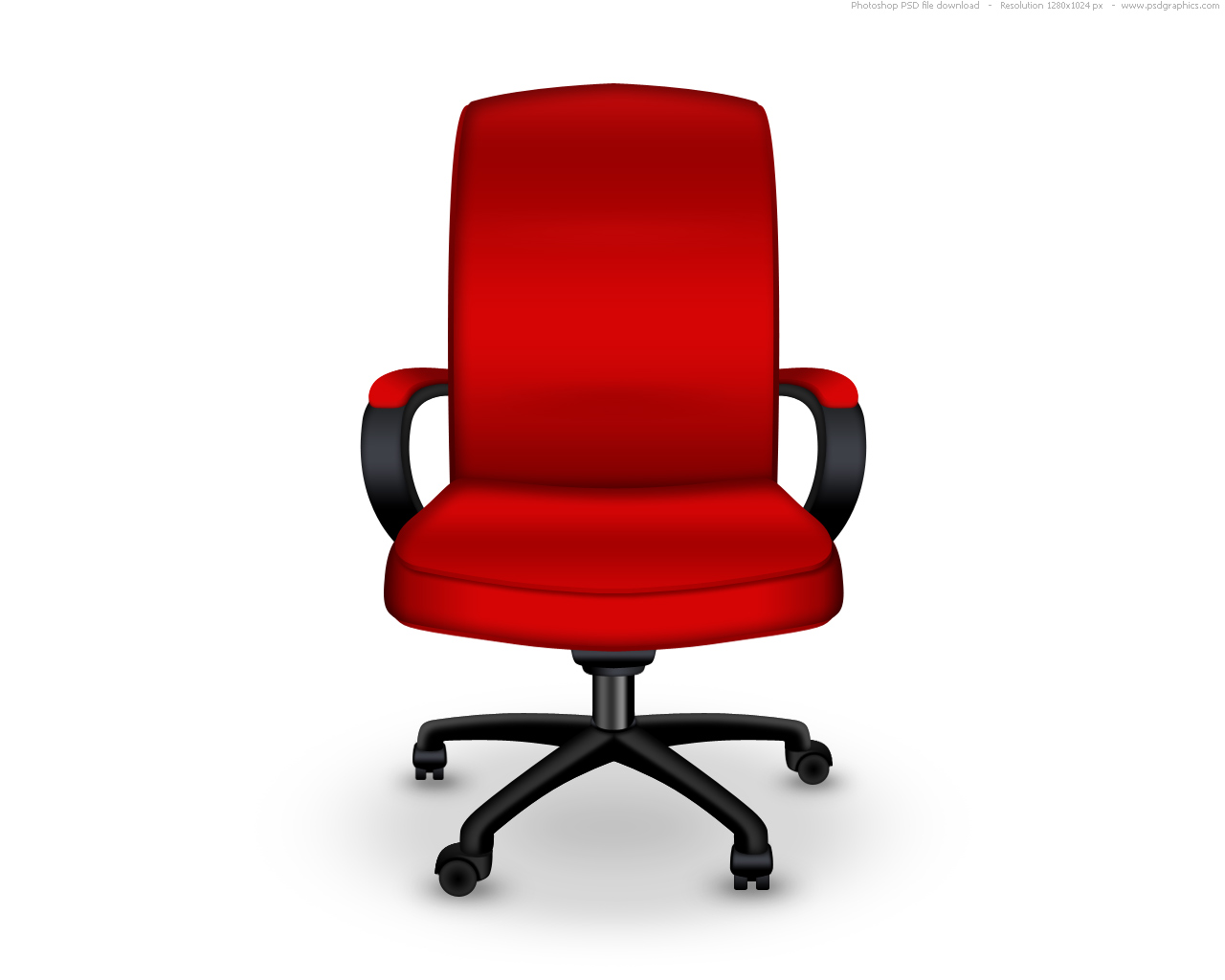 Red Leather Office Chair Red Office Chair Psd Icon Psdgraphics