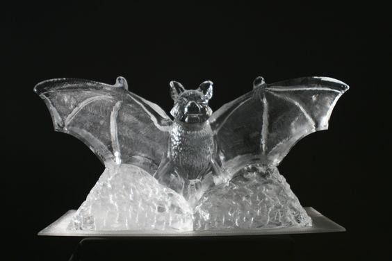 bat ice sculpture