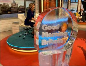Good Morning Britain PSD Ice Sculptures