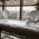 Seafood Station With Double Scallop Shells