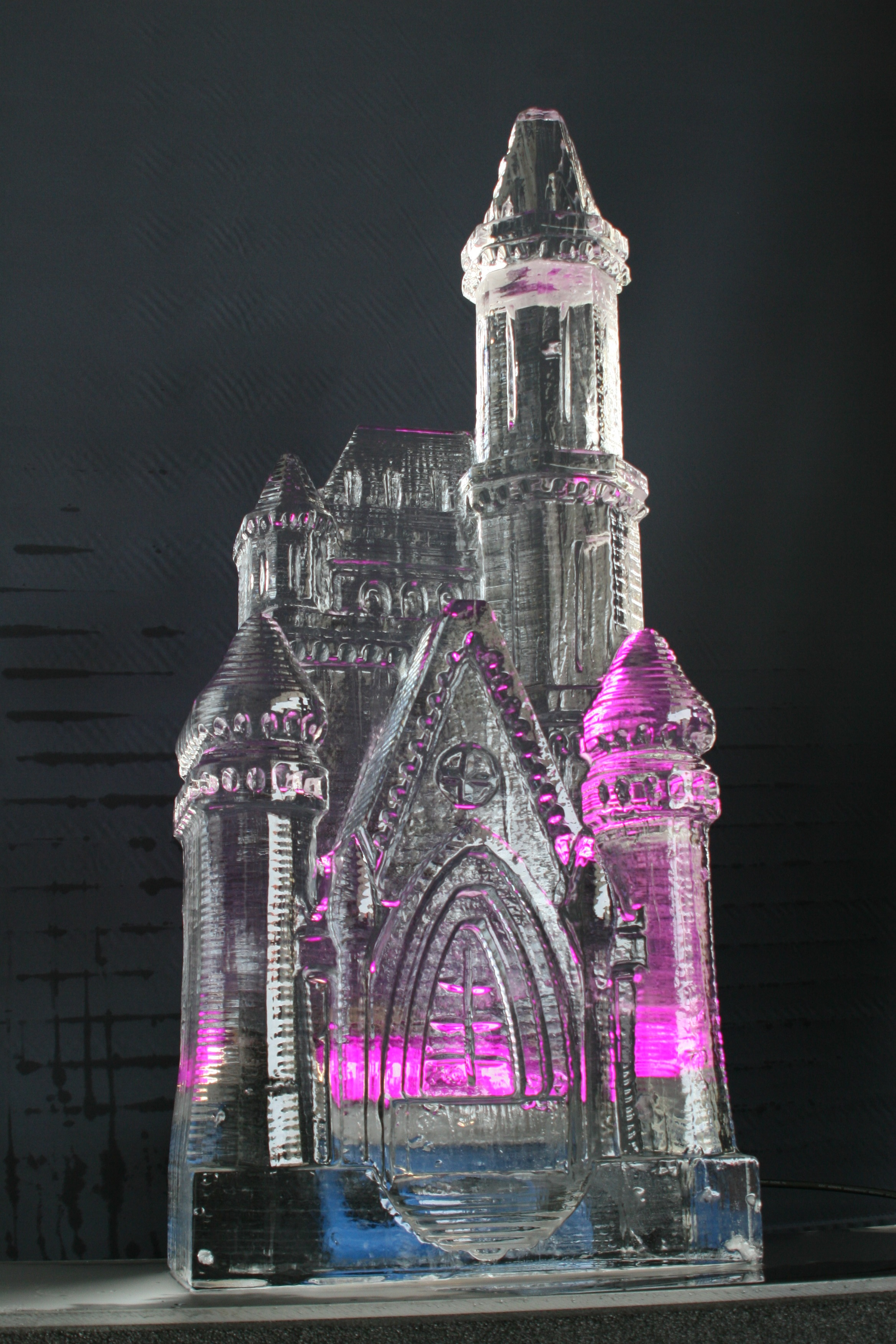Fairy Tale Castle Ice Sculpture